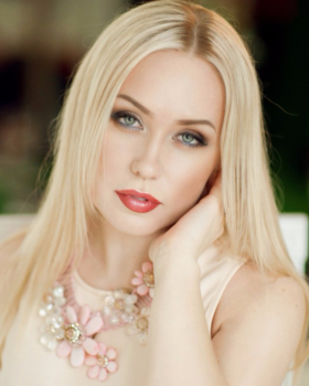 Beautiful blonde Russian woman